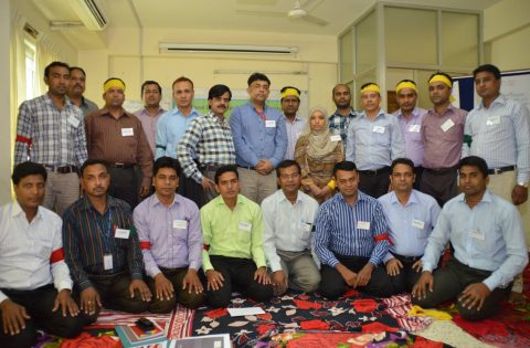Teambuilding training in Bangladesh